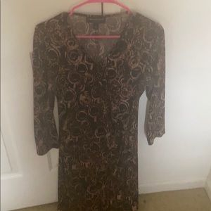 Long and gold dress long sleeve